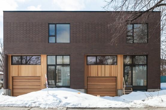 Construction neuve unifamiliale avec concept architectural unique dans le quartier Villeray avec les architectes L. McComber Ltée. Single family home in Villeray, Montreal.