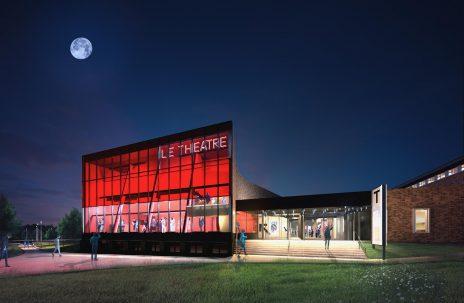 Concours pour la salle de spectacle de Maniwaki avec l'architecte Paul Laurendeau. Architecture competition for a theatre venue.