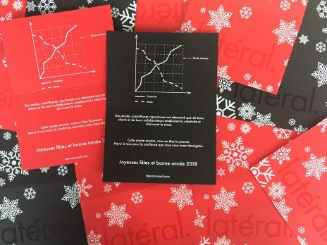 Carte Noël sérigraphie screenprinting