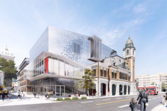 Concours Théâtre Les Gros Becs, Québec. Architectural competition for a theatre in Quebec City.